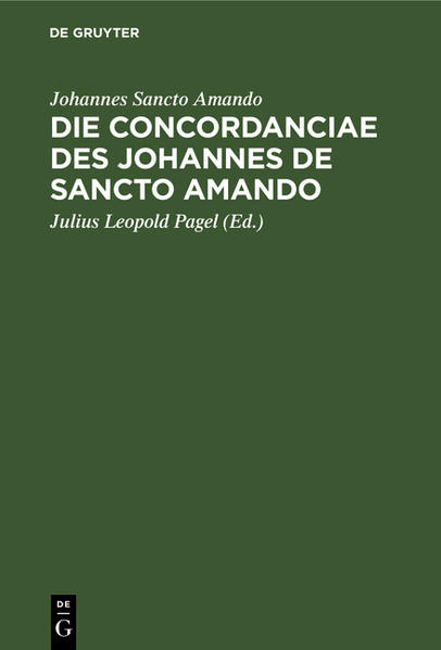 Die Concordanciae des Johannes de Sancto Amando - Coverbild