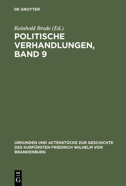 Politische Verhandlungen, Band 9 - Coverbild