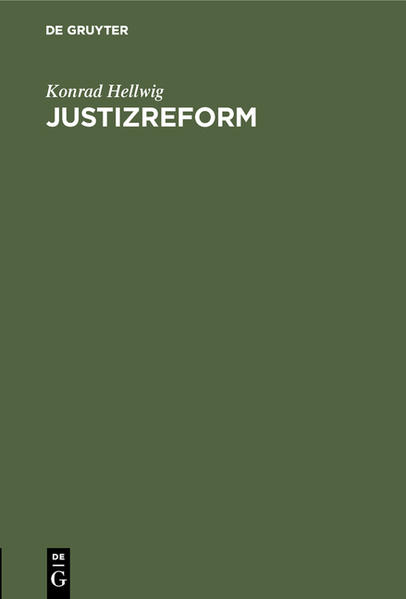 Justizreform - Coverbild