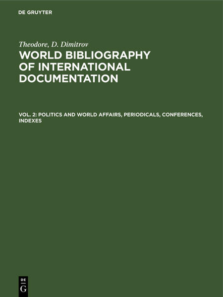 Politics and world affairs, periodicals, conferences, indexes - Coverbild