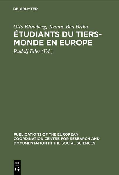 Étudiants du tiers-monde en Europe. ProSèmes d'adaption. Une étude effectuée en Autriche, en France, aux Pays-Bas et en Yougoslavie - Coverbild