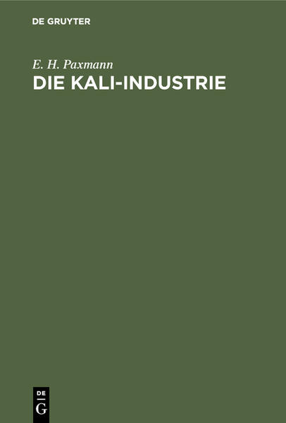 Die Kali-Industrie - Coverbild
