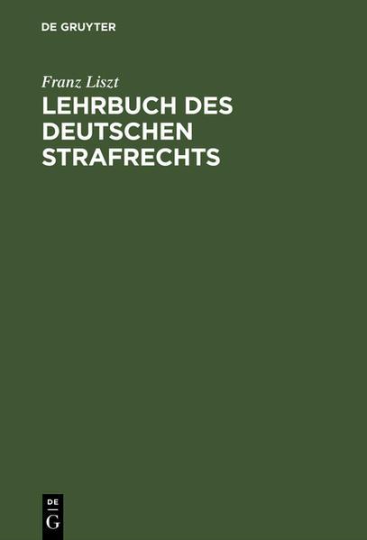 Lehrbuch des deutschen Strafrechts - Coverbild