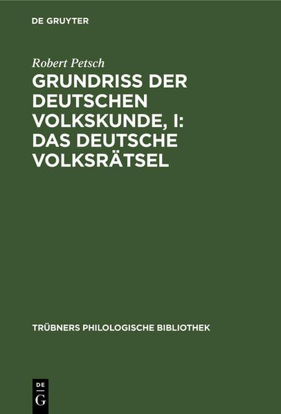 Das deutsche Volksrätsel - Coverbild