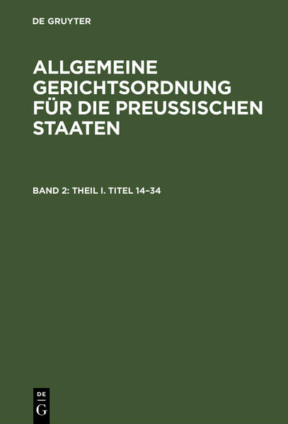 Theil I, Titel 14 - 34 - Coverbild