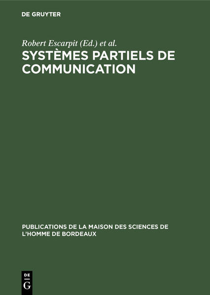 Systèmes partiels de communication - Coverbild