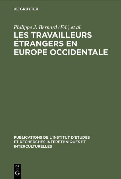Les Travailleurs étrangers en Europe occidentale - Coverbild