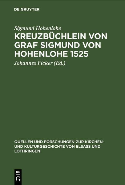 Kreuzbüchlein von Graf Sigmund von Hohenlohe 1525 - Coverbild