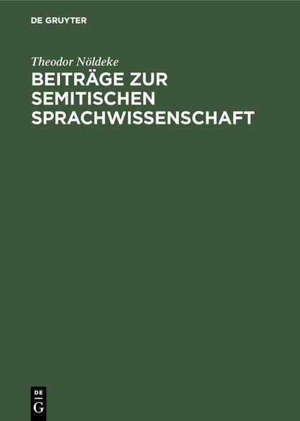 Beiträge zur semitischen Sprachwissenschaft - Coverbild