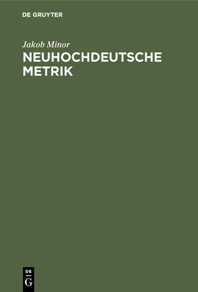 Neuhochdeutsche Metrik - Coverbild