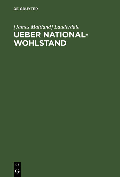 Ueber National-Wohlstand - Coverbild