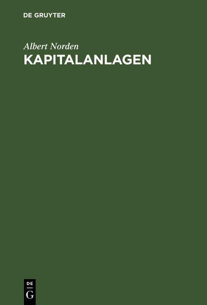 Kapitalanlagen - Coverbild