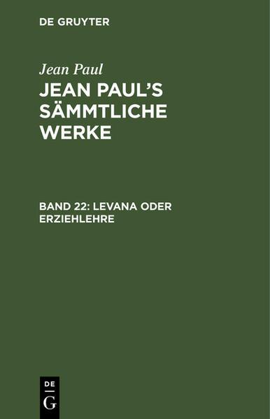 Levana oder Erziehlehre ; Bd. 1-2 - Coverbild