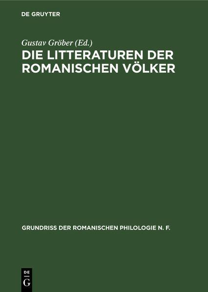 Die @Literaturen der romanischen Völker [1] - Coverbild