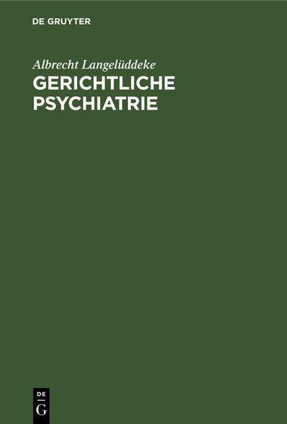 Gerichtliche Psychiatrie - Coverbild