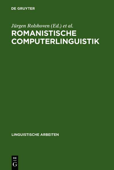 Romanistische Computerlinguistik - Coverbild