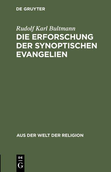 Die Erforschung der synoptischen Evangelien - Coverbild