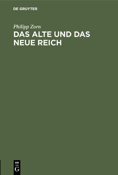 Das alte und das neue Reich - Coverbild