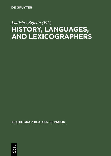 History, languages, and lexicographers - Coverbild