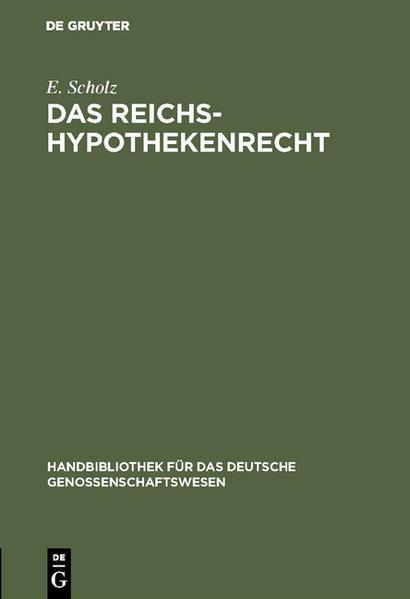 Das Reichs-Hypothekenrecht - Coverbild