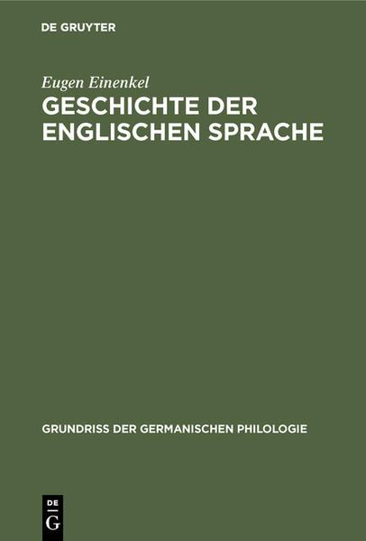 Geschichte der Englischen Sprache - Coverbild