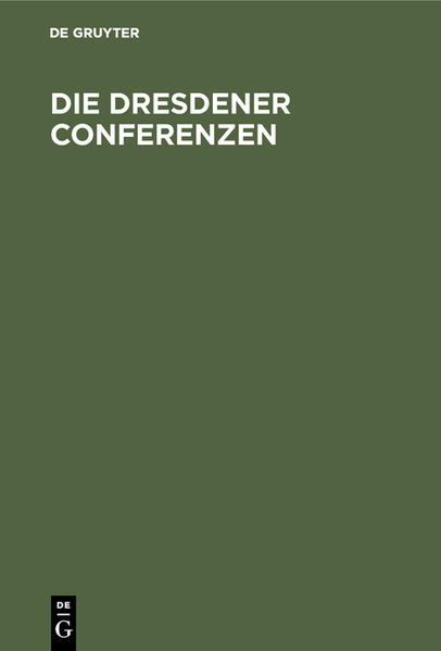 Die Dresdener Conferenzen - Coverbild