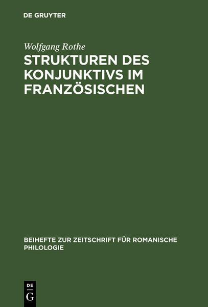 Strukturen des Konjunktivs im Französischen - Coverbild