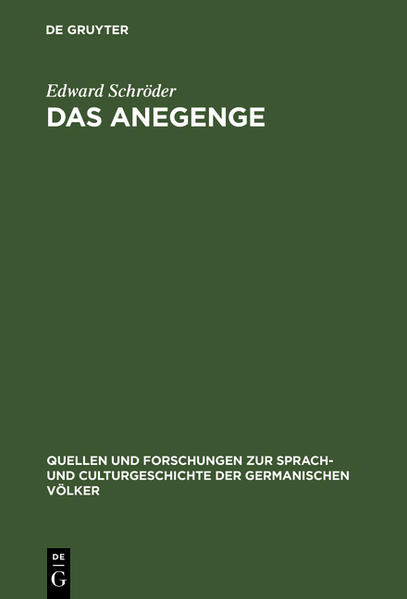 Das Anegenge - Coverbild