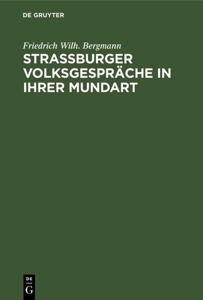 Strassburger Volksgespräche - Coverbild