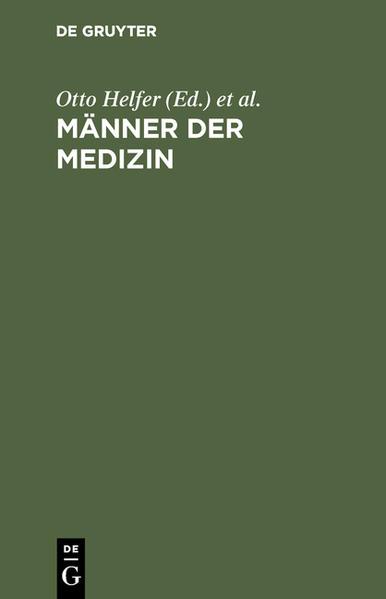 Männer der Medizin - Coverbild