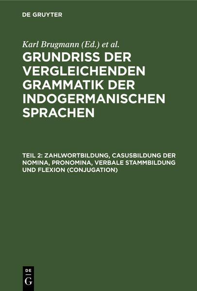 Zahlwortbildung, Casusbildung der Nomina, Pronomina, verbale Stammbildung und Flexion (Conjugation) - Coverbild