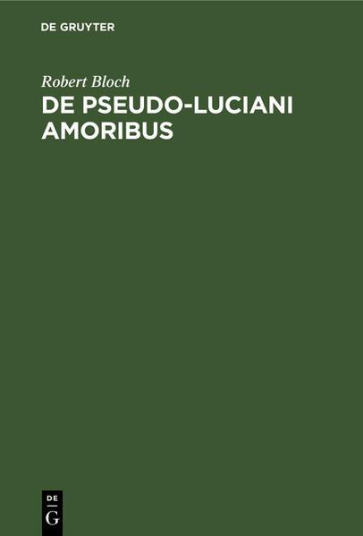 De Pseudo-Luciani Amoribus - Coverbild