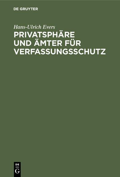 Privatsphäre und Ämter für Verfassungsschutz - Coverbild