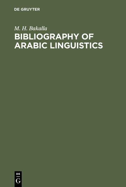 Bibliography of Arabic linguistics - Coverbild
