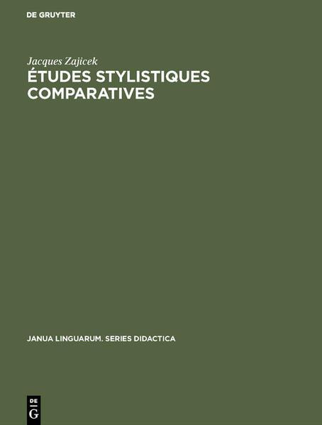 Études stylistiques comparatives - Coverbild