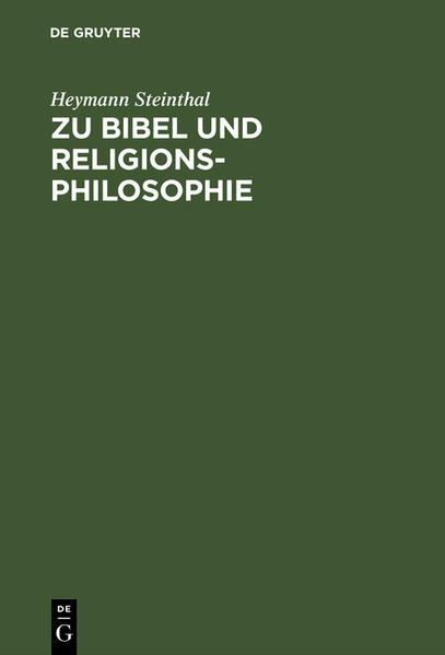 Zu Bibel und Religionsphilosophie - Coverbild