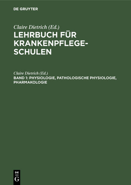 Physiologie, Pathologische Physiologie, Pharmakologie - Coverbild