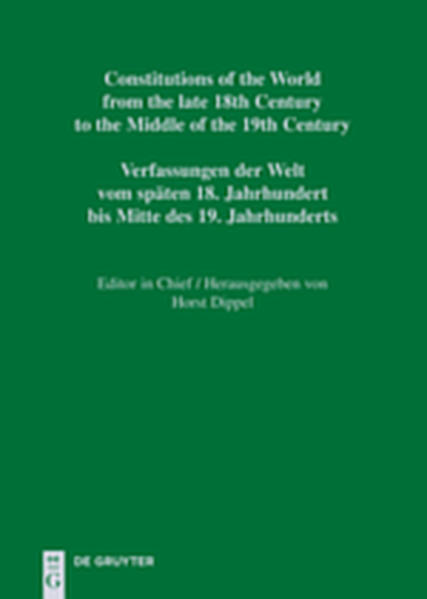 Constitutions of the World from the late 18th Century to the Middle... / Constitutional Documents of Portugal and Spain 1808–1845 / Textos constitucionais de Portugal e Espanha 1808–1845 / Textos constitucionales de Portugal y España 1808–1845 / Verfassungsdokumente Portugals und Spaniens 1808–1845 - Coverbild