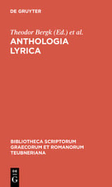 Anthologia lyrica - Coverbild