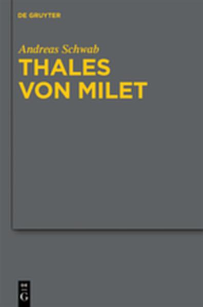 Thales von Milet in der frühen christlichen Literatur - Coverbild
