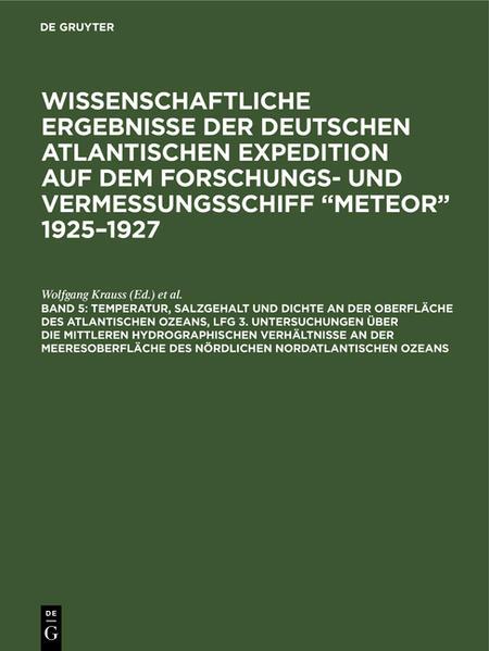 Wissenschaftliche Ergebnisse der deutschen atlantischen Expedition auf dem Forschungs- und Vermessungsschiff