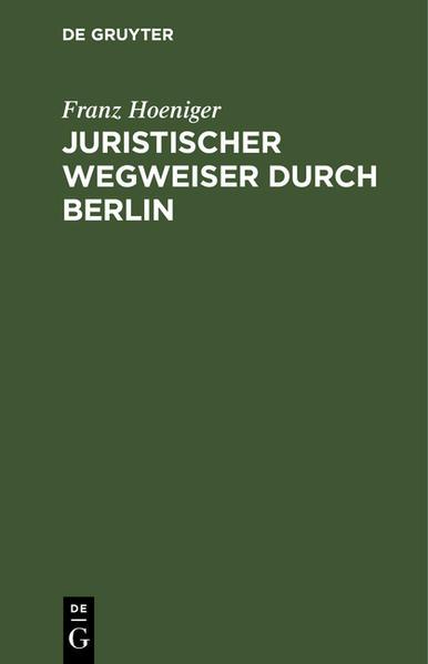 Juristischer Wegweiser durch Berlin - Coverbild