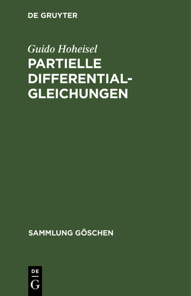 Partielle Differentialgleichungen - Coverbild