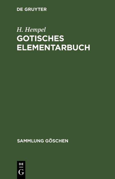 Gotisches Elementarbuch - Coverbild