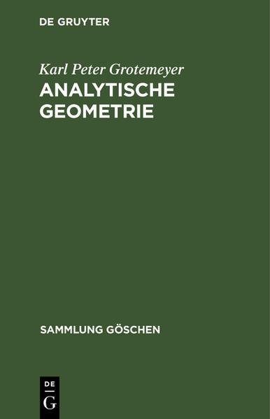 Analytische Geometrie - Coverbild