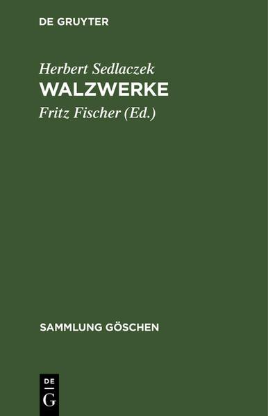 Walzwerke - Coverbild