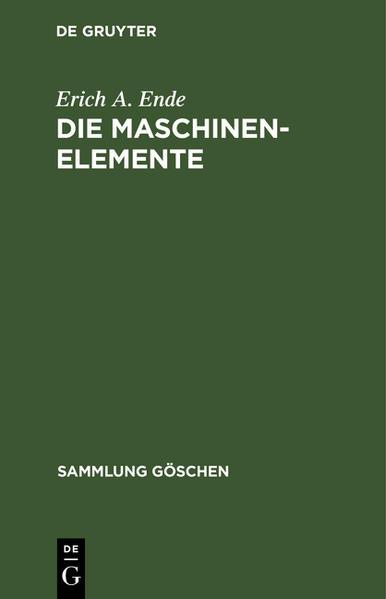 Die Maschinenelemente - Coverbild