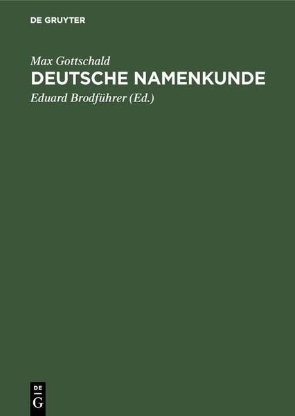 Deutsche Namenkunde - Coverbild