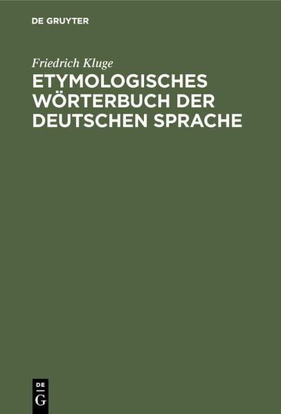 Etymologisches Wörterbuch der deutschen Sprache - Coverbild