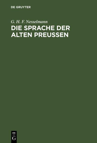 Die Sprache der alten Preußen - Coverbild